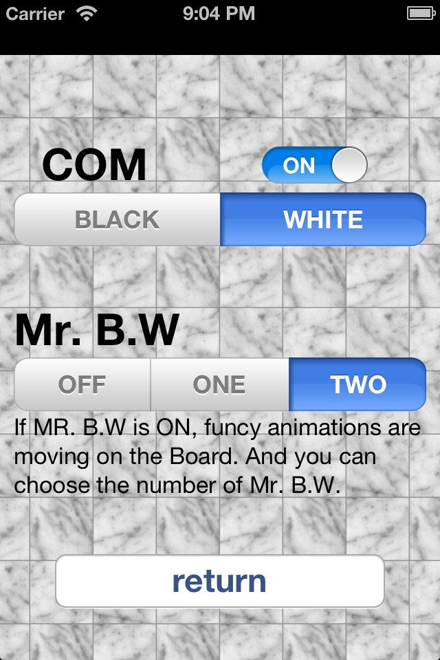 Screenshot Mr. B.W